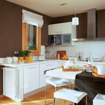 Декор за кухня с бели шкафове — DT Targovishte