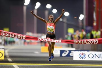Първият златен медал от световното първенство по лека атлетика в Доха е за Кения