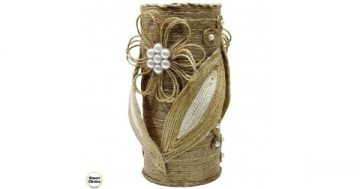 Сувенир – Ваза за сухи цветя с орнаменти – 19 см. Модел DM-9051 – Smart Choice