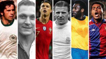 Пет голмайстора с повече от 700 гола, колкото има Кристиано Роналдо