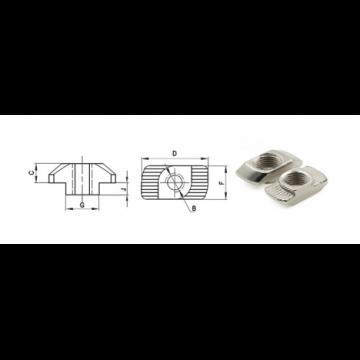 крепежи за cnc машини, крепежни елементи, Т слот гайки, Тясна ъглова връзка, имбусен болт