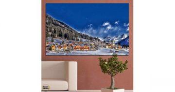 Картина пано за стена от 1 част – Алпийски курорт – HD-660-1 – Smart Choice