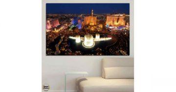 Картина пано за стена от 1 част с изглед от Лас Вегас – HD-662-1 – Smart Choice