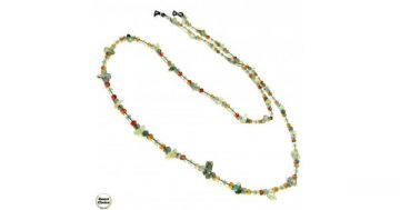 Връзка за очила от естествени камъни Авантюрин и Карнеол – DM-1070 – Smart Choice