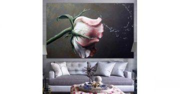 Картина пано за стена от 1 част с рисувани летни цветя – HD-979-1 – Smart Choice