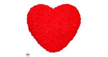 Ръчно изработено сърце от рози в червено 32 см. Модел DM-9082 – Smart Choice