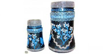 """Сувенир – Комплект две вази за цветя """"Синя идея"""". Модел DM-9086 – Smart Choice"""