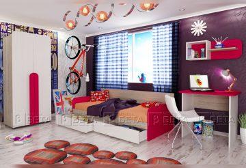 Модулни мебели за детска стая Рико