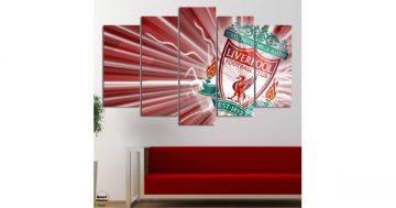 """Декоративно пано за стена от 5 части – Ливърпул – """"Червена любов"""" – HD-1892-3 – Smart Choice"""