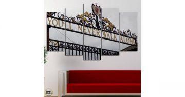 Декоративно пано за стена от 5 части – Ливърпул – Портата Бил Шенкли на Анфийлд – HD-1892 – Smart Choice