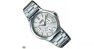 Дамски аналогов ръчен часовник Casio LTP-V300D-7A. Стоманена верижка – Smart Choice