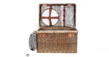 Кошница за пикник с прибори за четирима и одеяло за пикник. Модел 86-8584 – Smart Choice