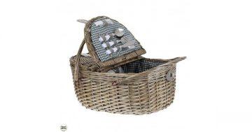 """Кошница за пикник с прибори за двама – """"Зелена разходка"""". Модел 86-8583 – Smart Choice"""