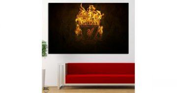 """Картина пано за стена от 1 част – Ливърпул – """"The burning Liverpool"""" – HD-1892-2-1 – Smart Choice"""