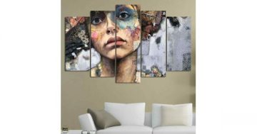 """Декоративно пано за стена от 5 части – """"Госпожица М"""" Juliette Belmonte – HD-910 – Smart Choice"""