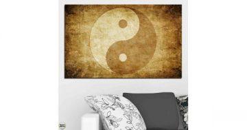 Картина пано за стена от 1 част с изображение на Фън Шуй символ Ин и Ян – HD-226-1 – Smart Choice