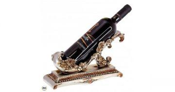 Статуетка – поставка за вино от полирезин Лозови листа – 28 см. Модел 80-9057 – Smart Choice