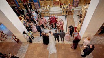 Църковен брак в новооткрития храм в кв. Лозенец