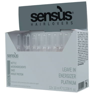 Ампули против косопад Leave In Energizer Platinum – Професионална козметика за коса