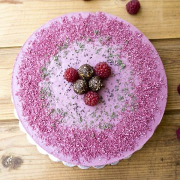 Торта Малини с Мента ▷ RawCakes.bg